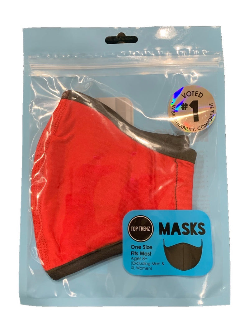 TOP TRENZ SOLID RED MASK - AGES 8+