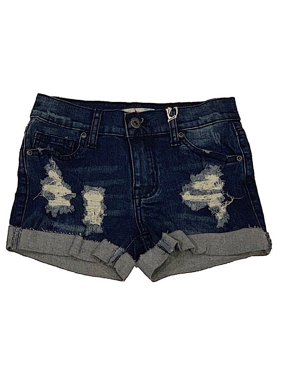 Vintage Havana Denim Shorts with Cuff Bottoms