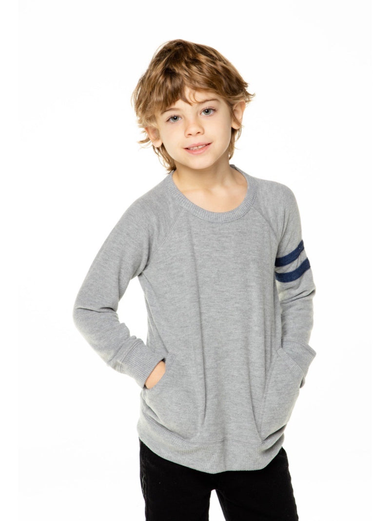 PRE-ORDER Chaser Boys Grey/Avalon Pullover - Expected Ship 10/1