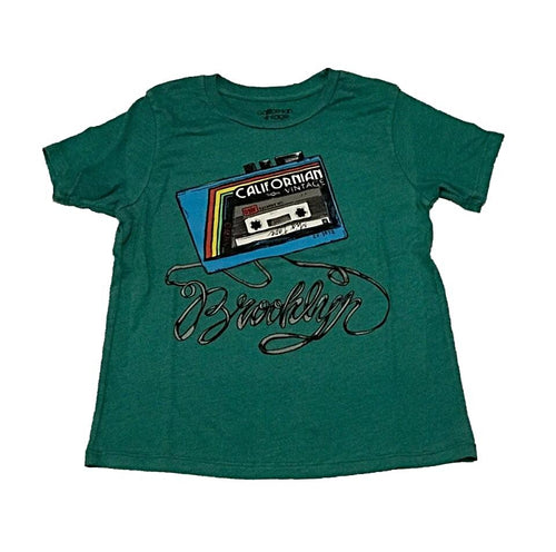 Californian Vintage Green Play Back Tee Shirt