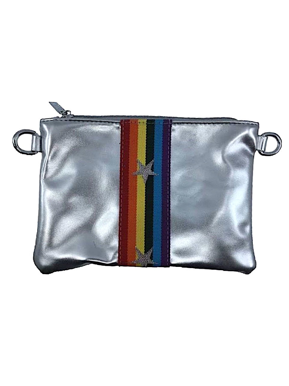Silver Rainbow Star Crossbody Bag