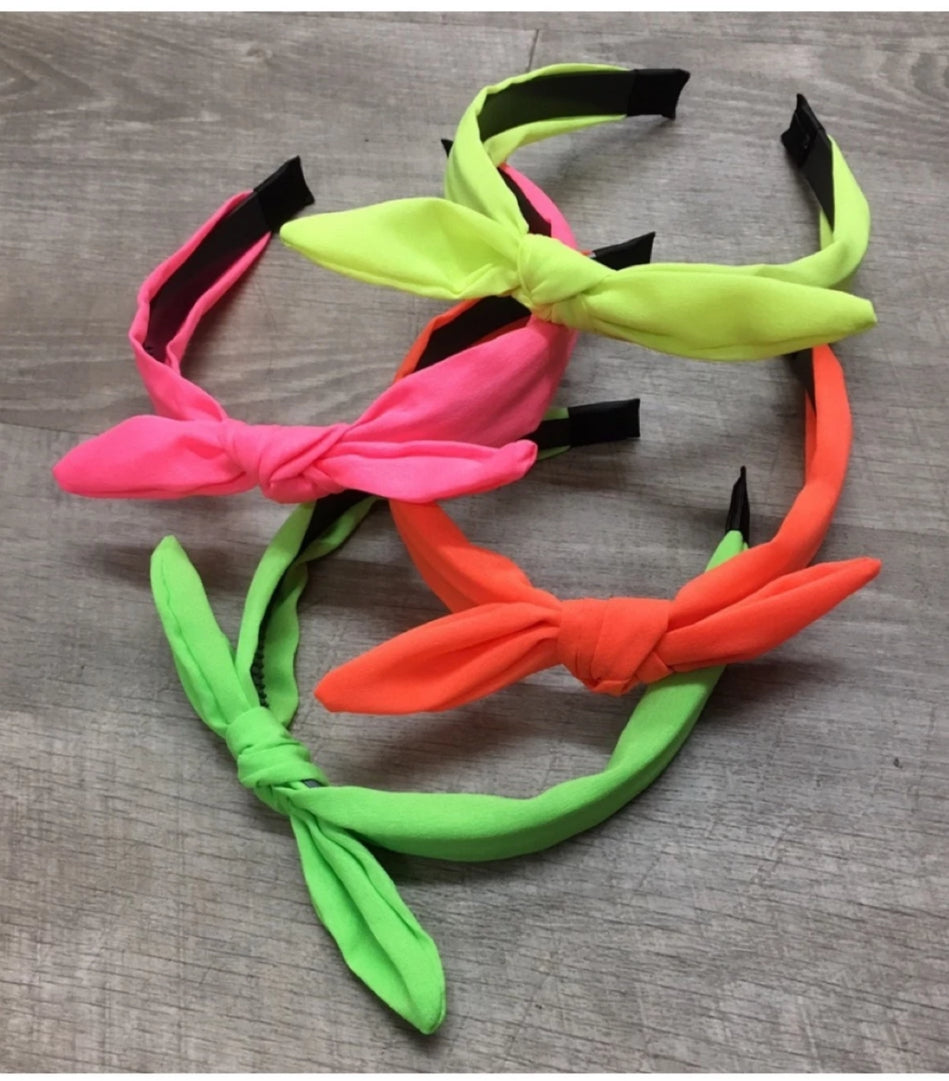 NEON BOW HEADBAND - MULTIPLE COLORS
