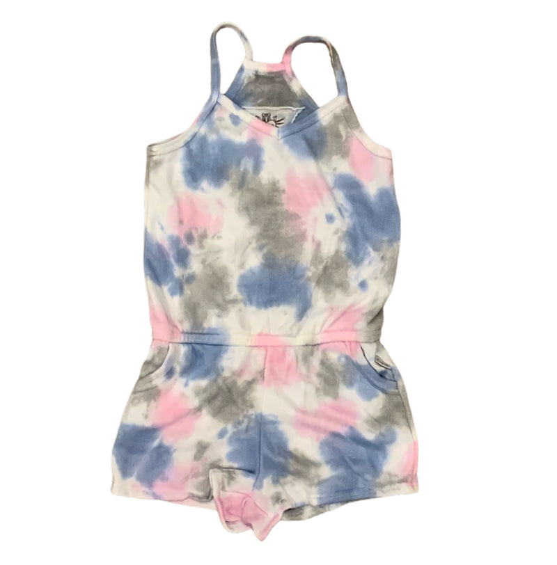 T2Love Blue Tie Dye Cami Romper With Pocket