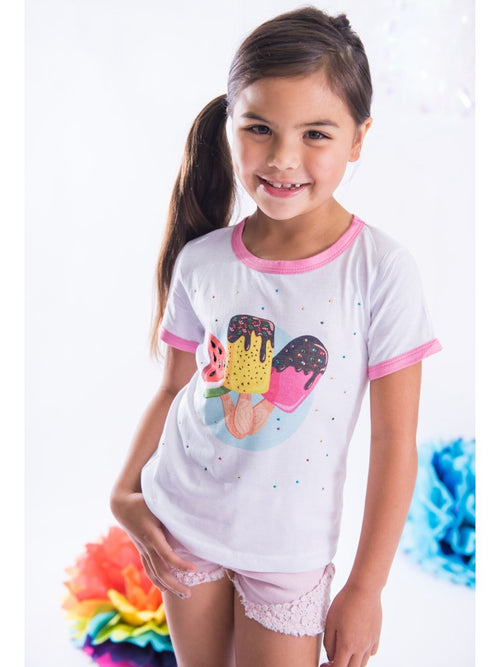 Sparkle By Stoopher Ice Pops Ringer Tee