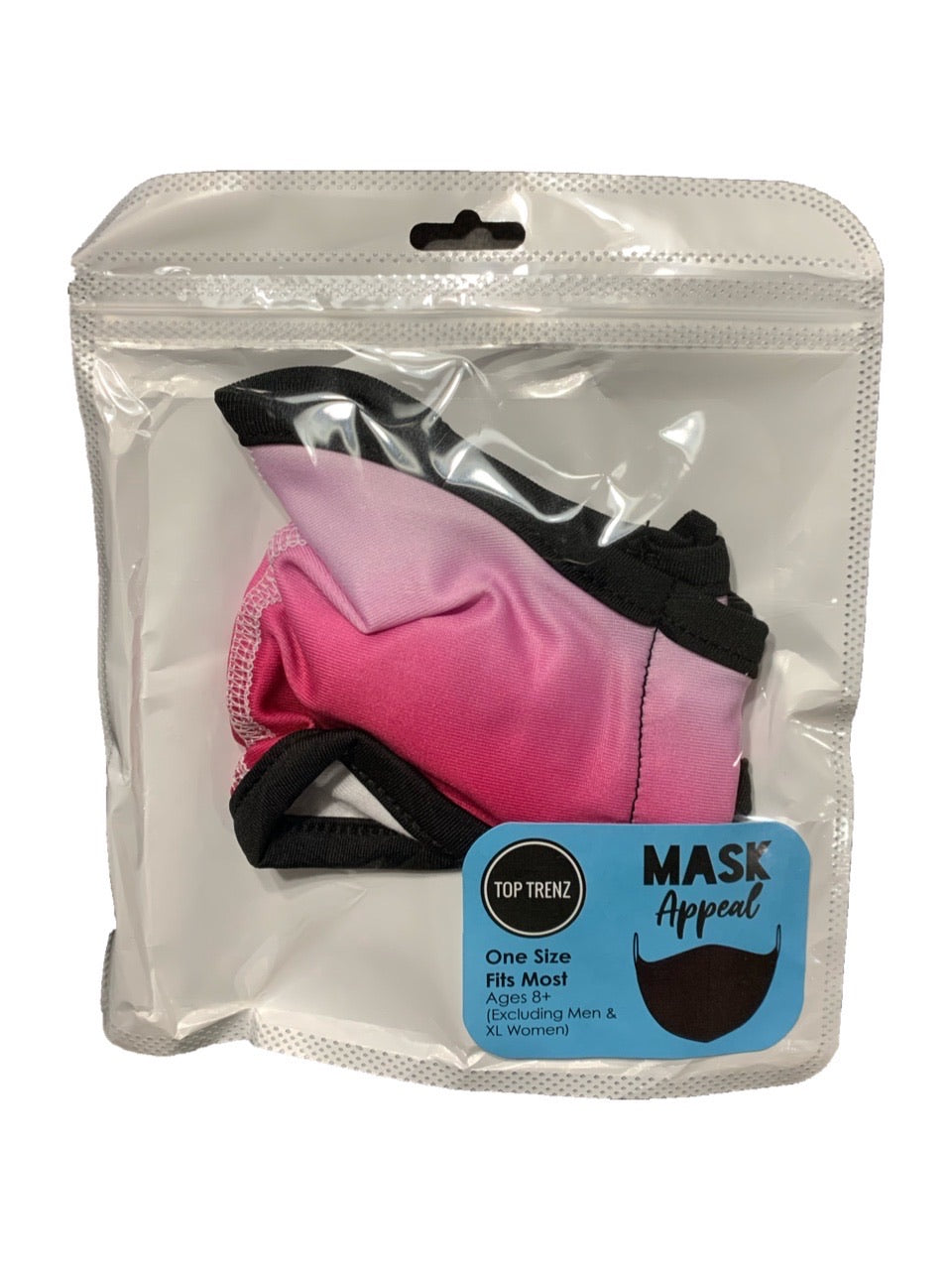 TOP TRENZ PINK OMBRE MASK - AGES 8+