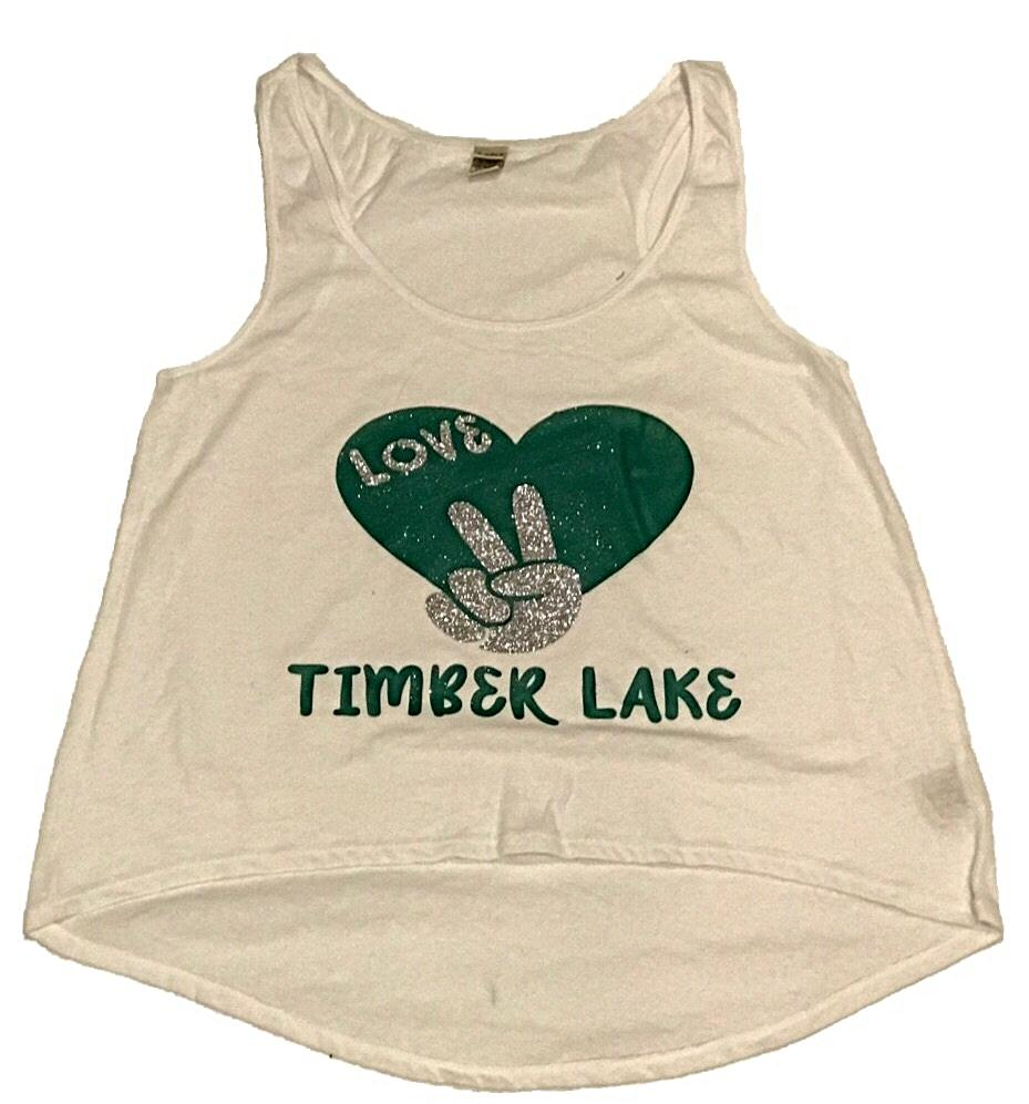 Custom Camp Peace Love High/Lo Tank