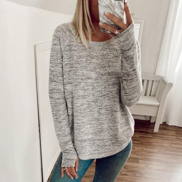 Grey Brushed Hacci Top