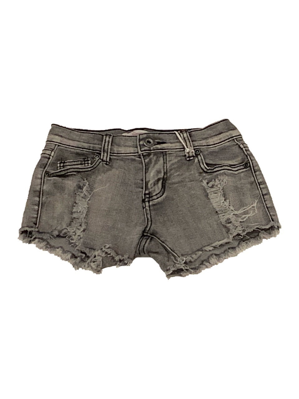 Vintage Havana Mermaid Distressed Denim Shorts