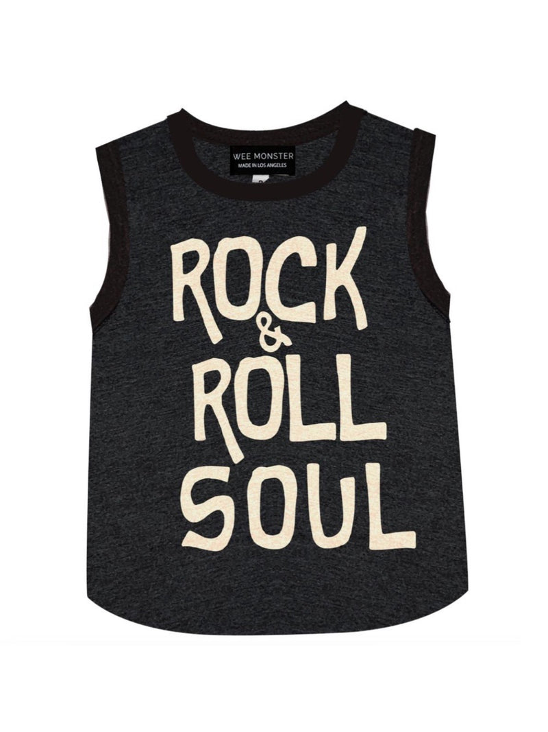 Wee Monster Rock and Roll Soul Muscle Tank