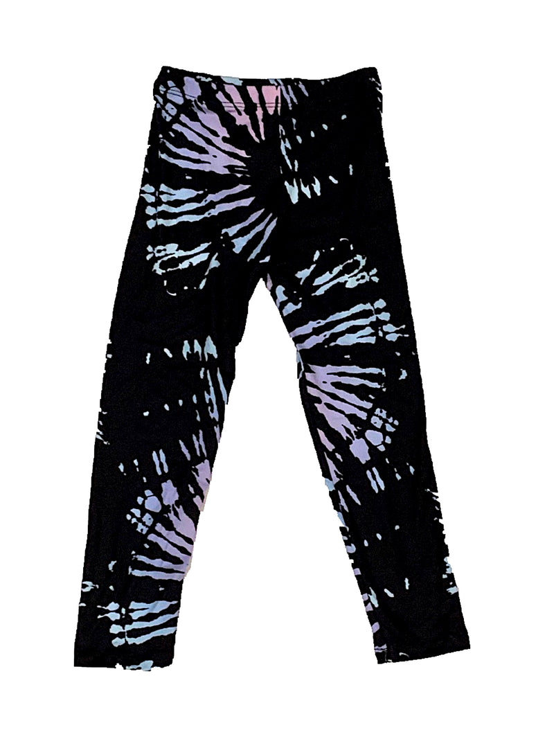 Social Butterfly Spiral Black Leggings