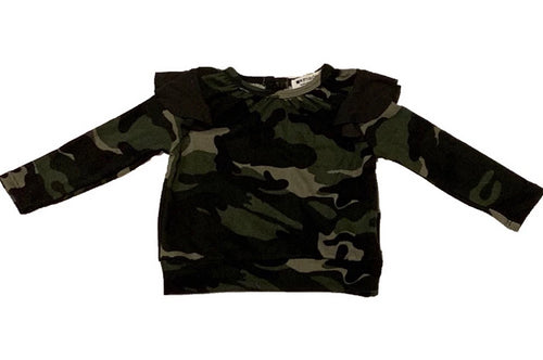 LA MADE Infant Camo with Ruffle Top