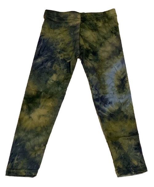 Dori Creations Olive and Navy Tie Dye Leggings