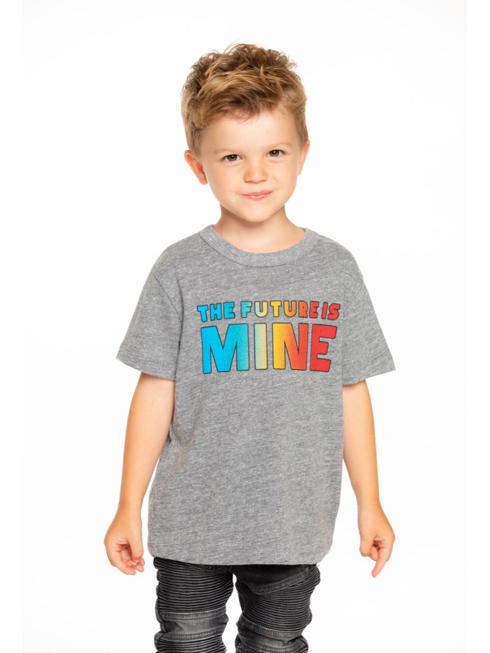 Chaser Boys Grey The Future Is Mine Tee Shirt