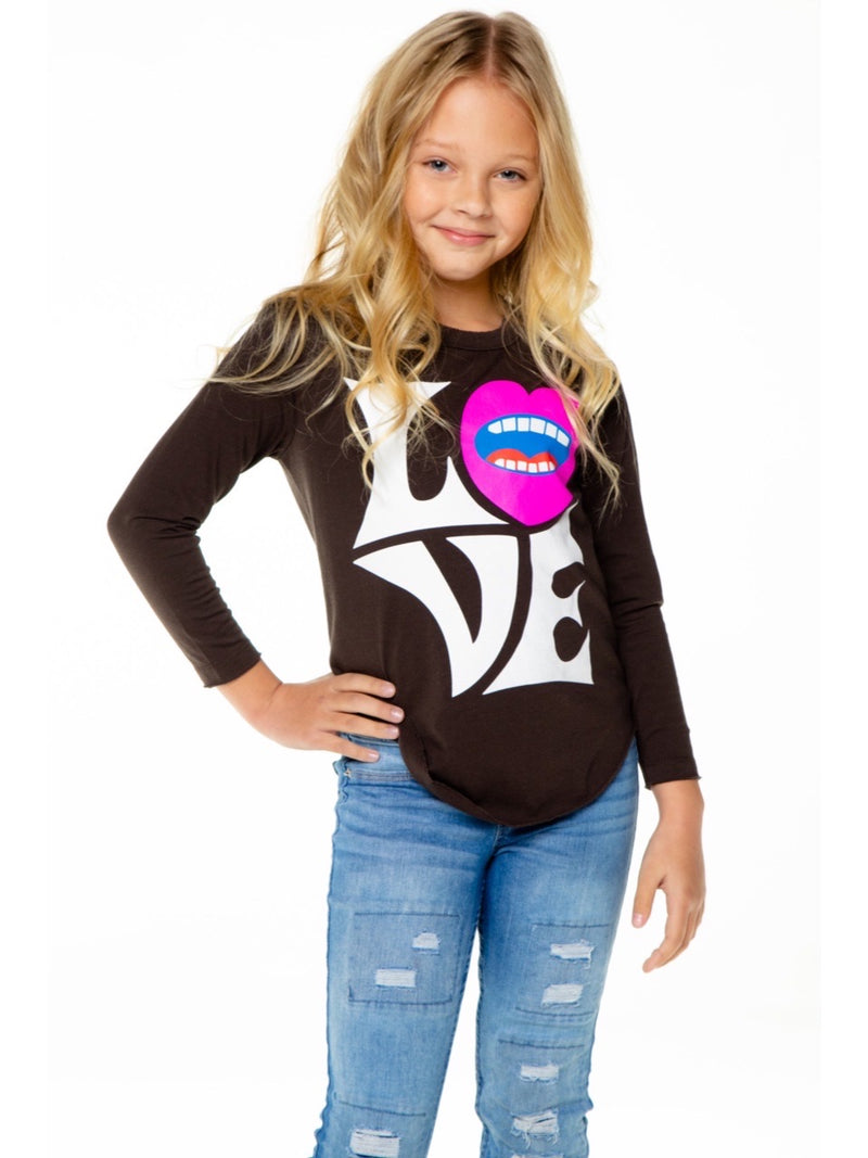 PRE-ORDER Chaser Girls Loud Love L/S Tee - EXPECTED DELIVERY 10/1