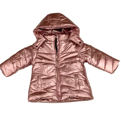 METALLIC PINK ANORAK COAT