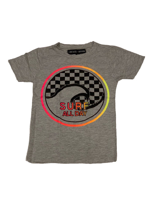 Vintage Havana Boys Grey Surf All Day Tee Shirt