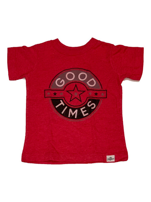 Red Good Times Badge T-Shirt