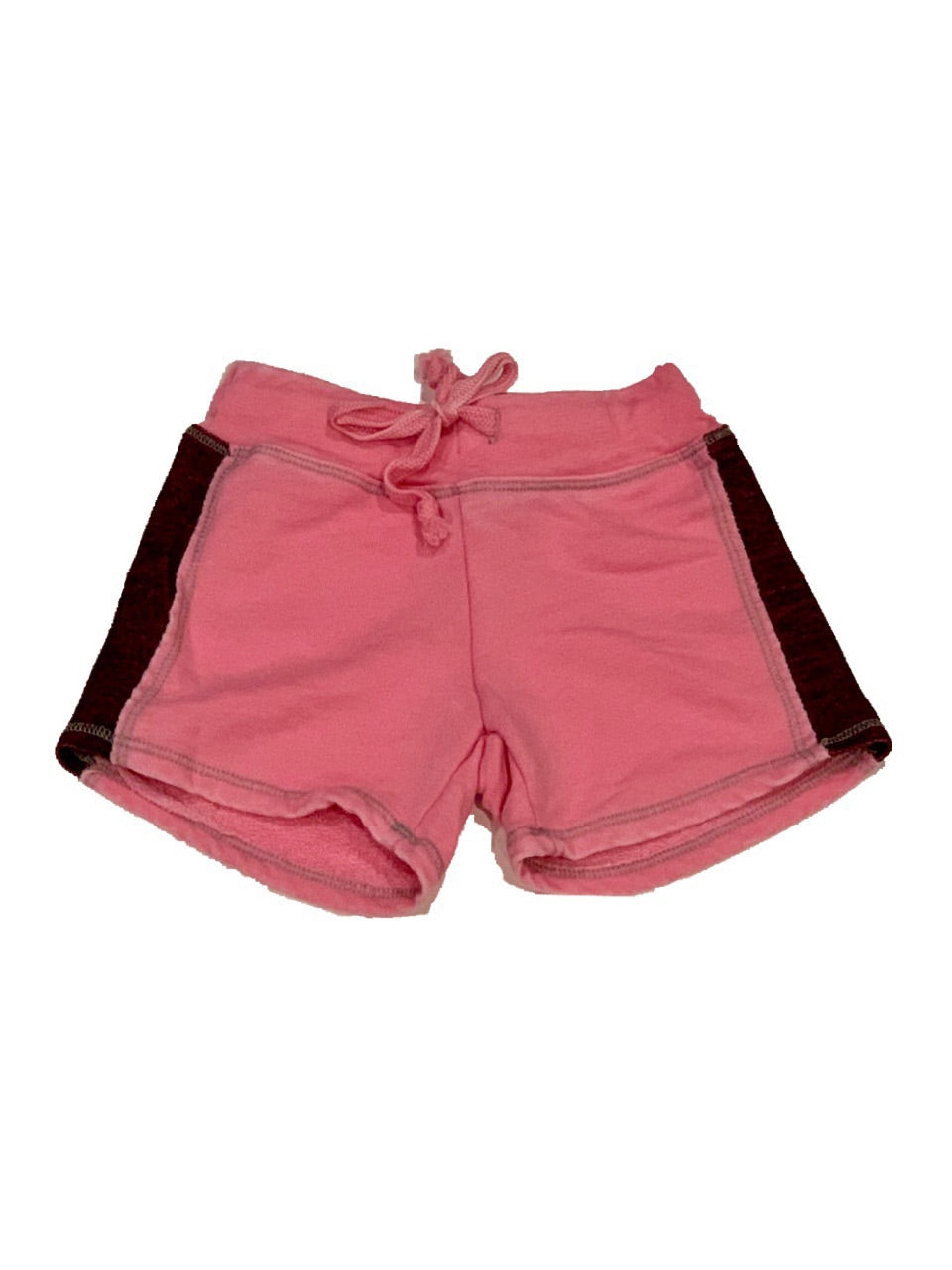 T2Love Bright Pink Contrast Gym Shorts