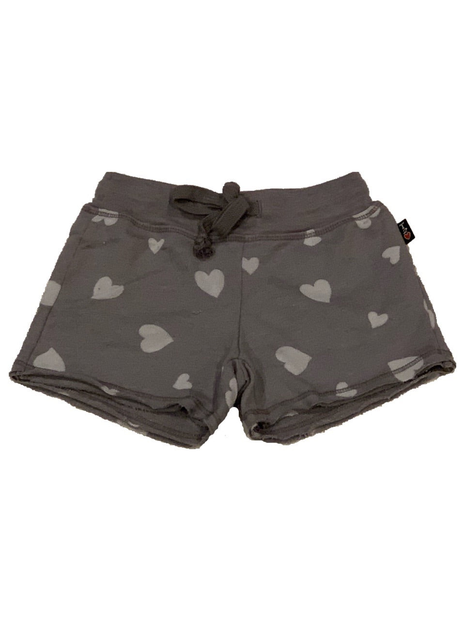 T2Love Raw Short Grey With White Hearts