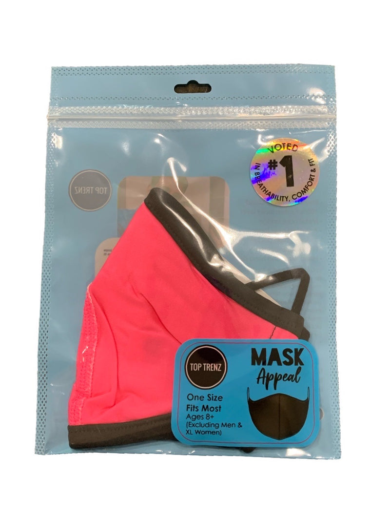 TOP TRENZ SOLID PINK MASK - AGES 8+