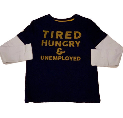 Crumb Navy Tired Hungry Shirt
