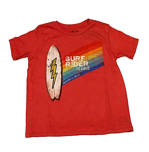Californian Vintage Red Surf Rider Tee Shirt