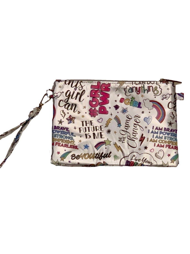 Girl Power Wristlet - Silver or Pink
