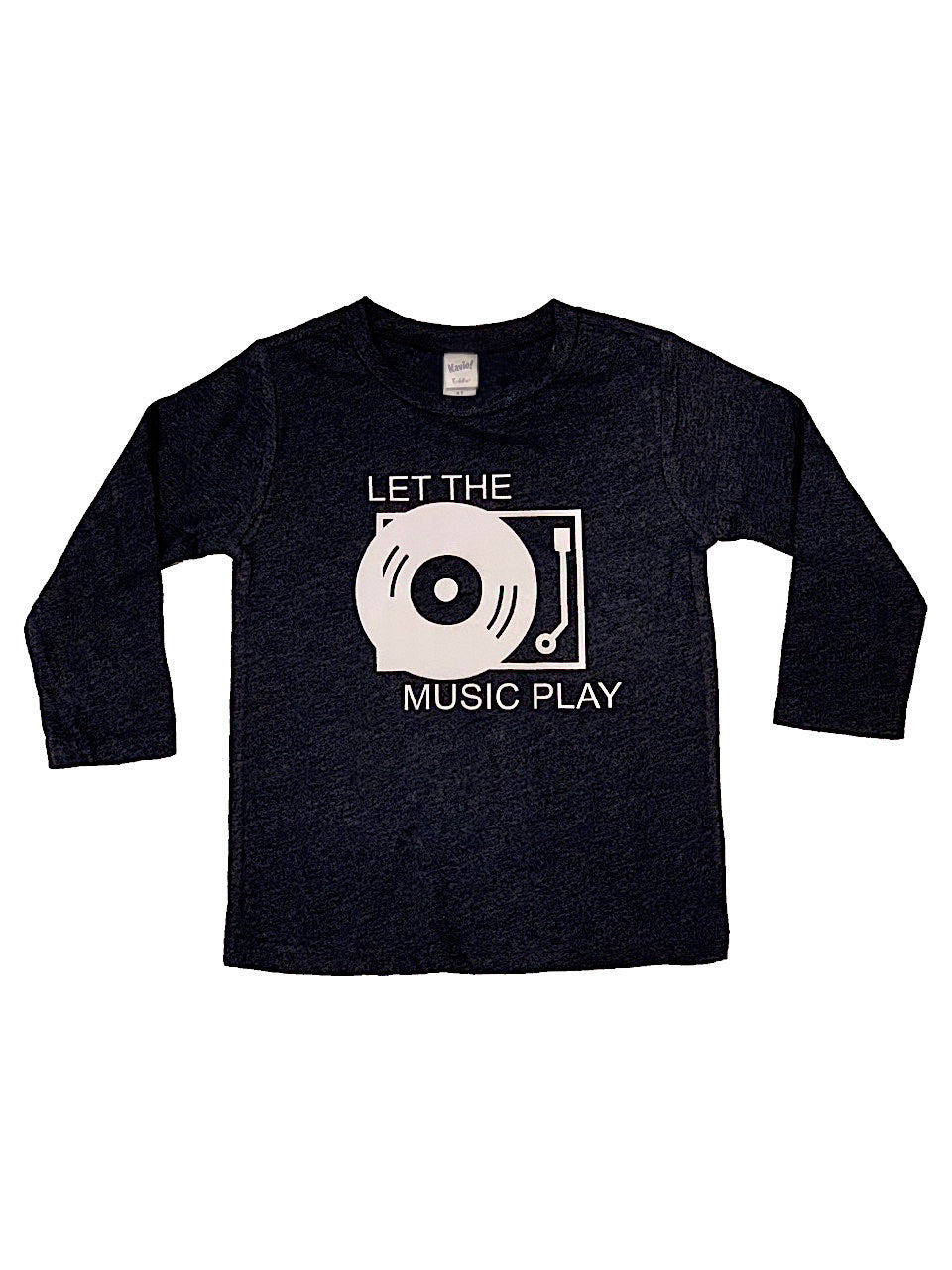 Let The Music Play Long Sleeve Navy Tee