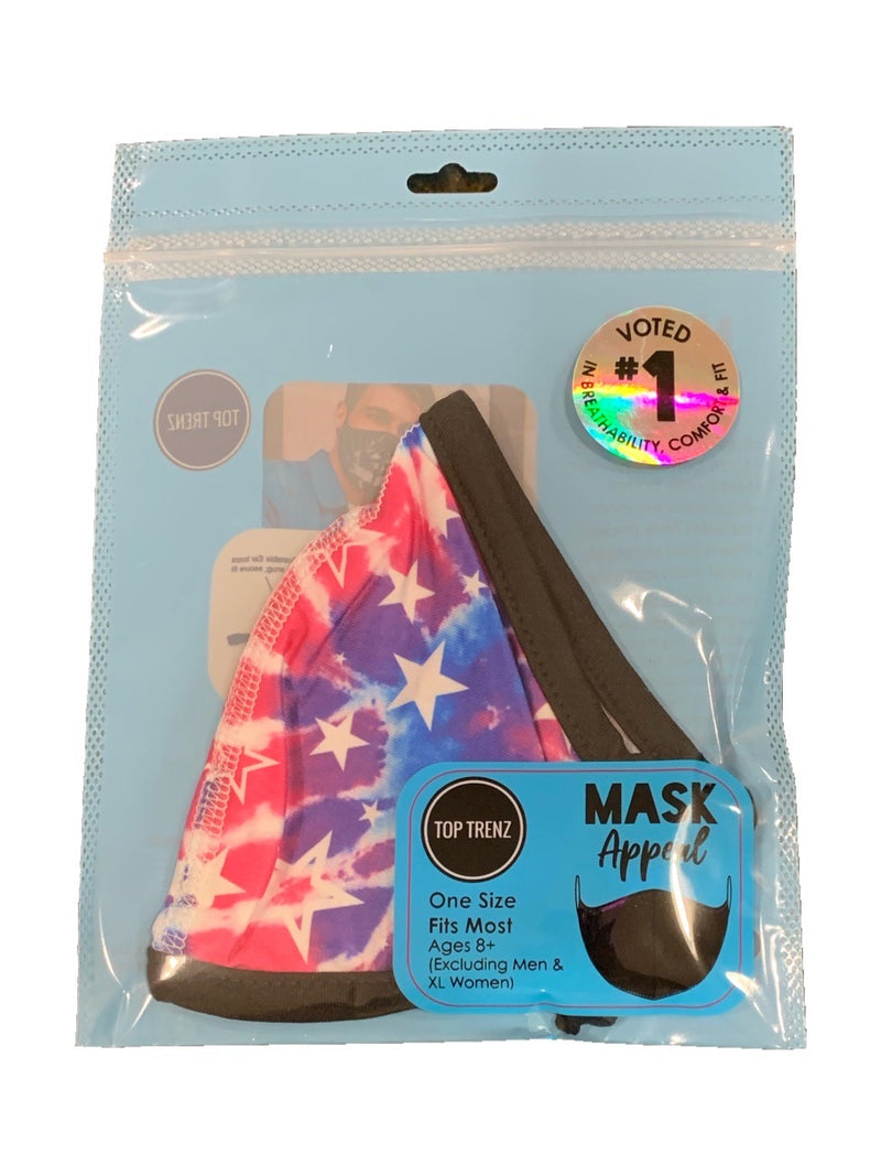 TOP TRENZ TIE DYE STARS MASK - AGES 8+