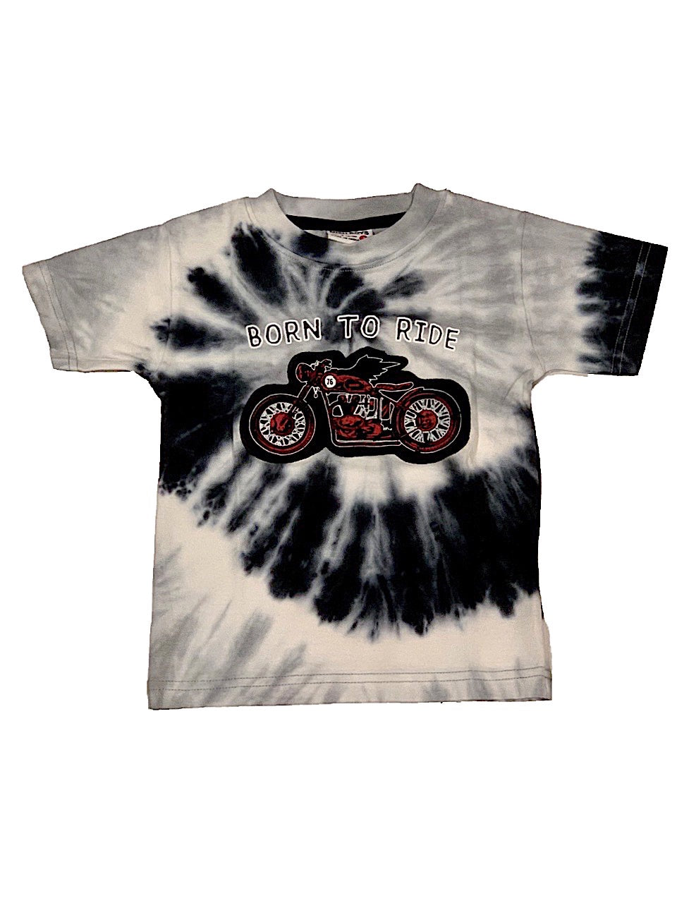 Mish Mish Black and Gray Tie Dye Born To Ride