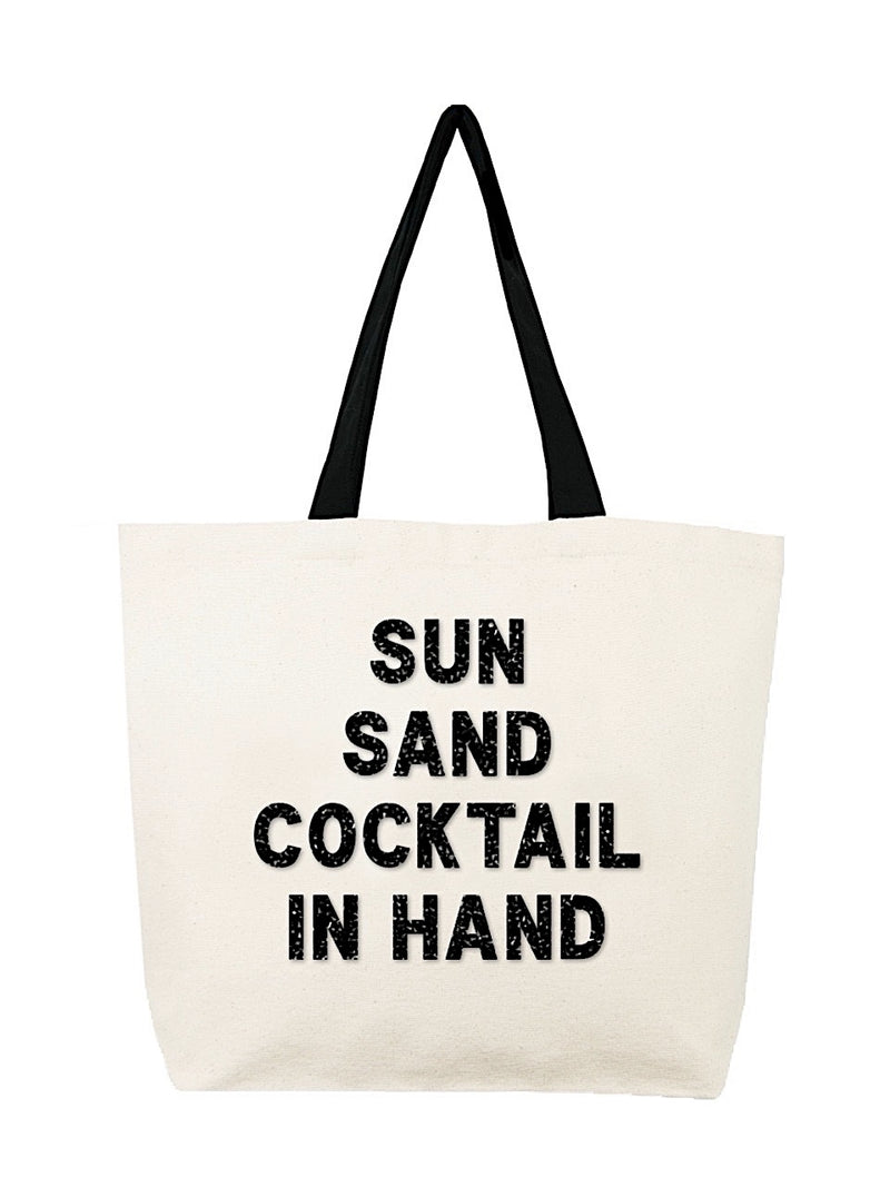 Sun Sand Cocktail In Hand Tote