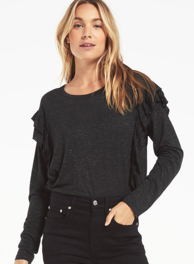Z Supply Adele Sparkle Ruffle Top