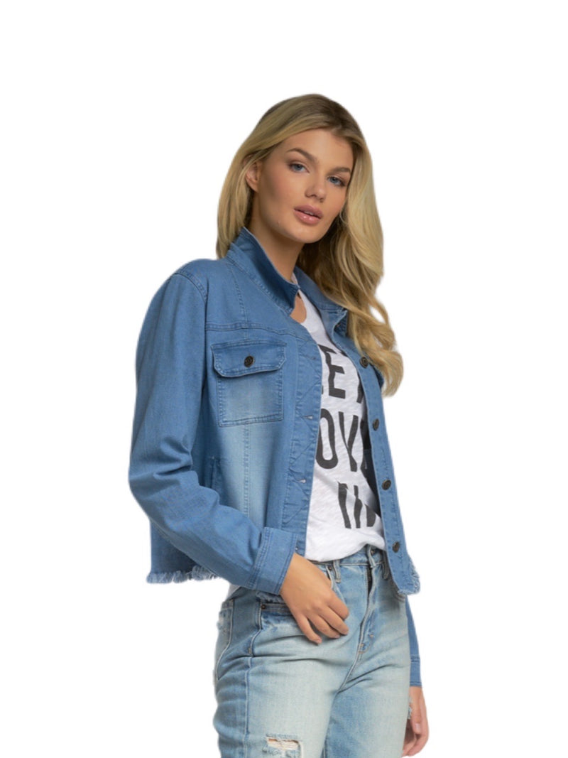 Elan Crop Jean Jacket