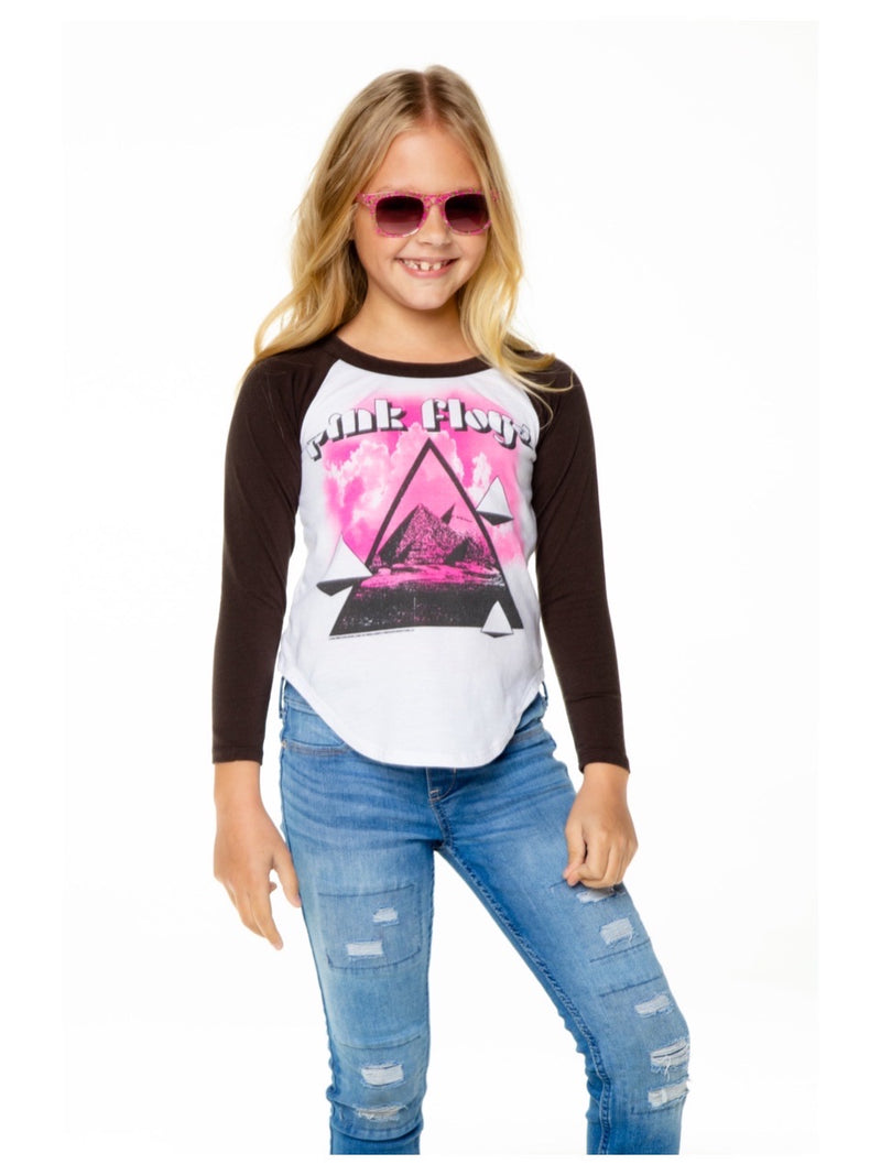 Chaser Girls Pink Floyd Pyramids L/S Tee