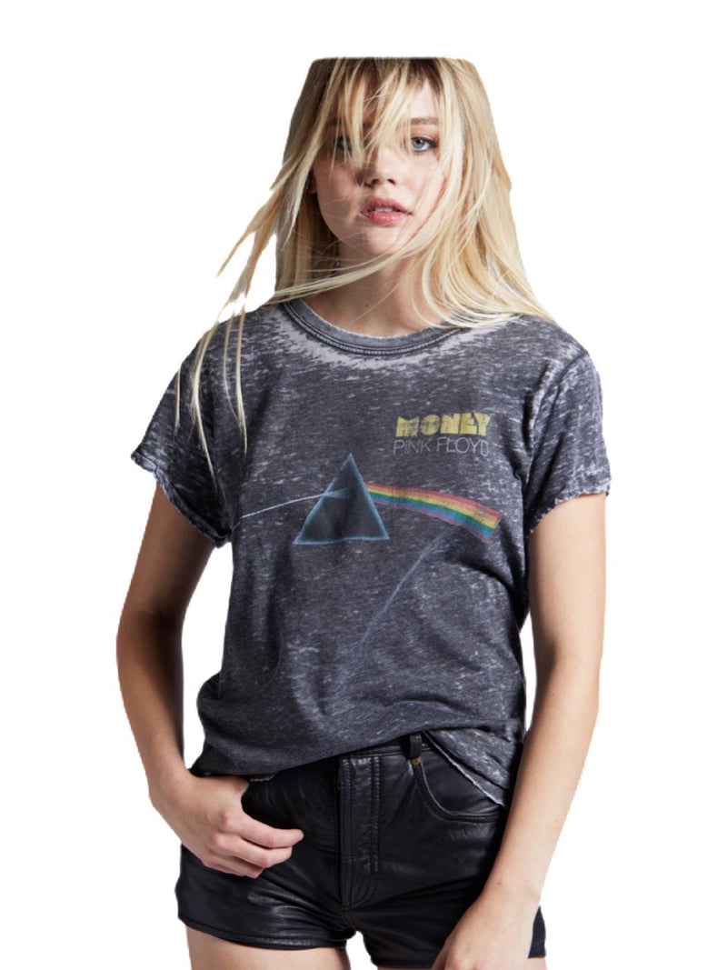 Recycled Karma Pink Floyd Dark Side Money Burn Out Tee