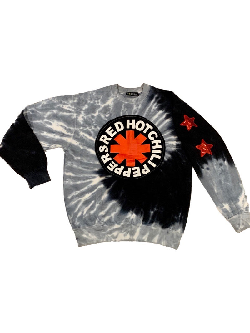 SOJARA RED HOT CHILI PEPPERS TIE DYE SWEATSHIRT