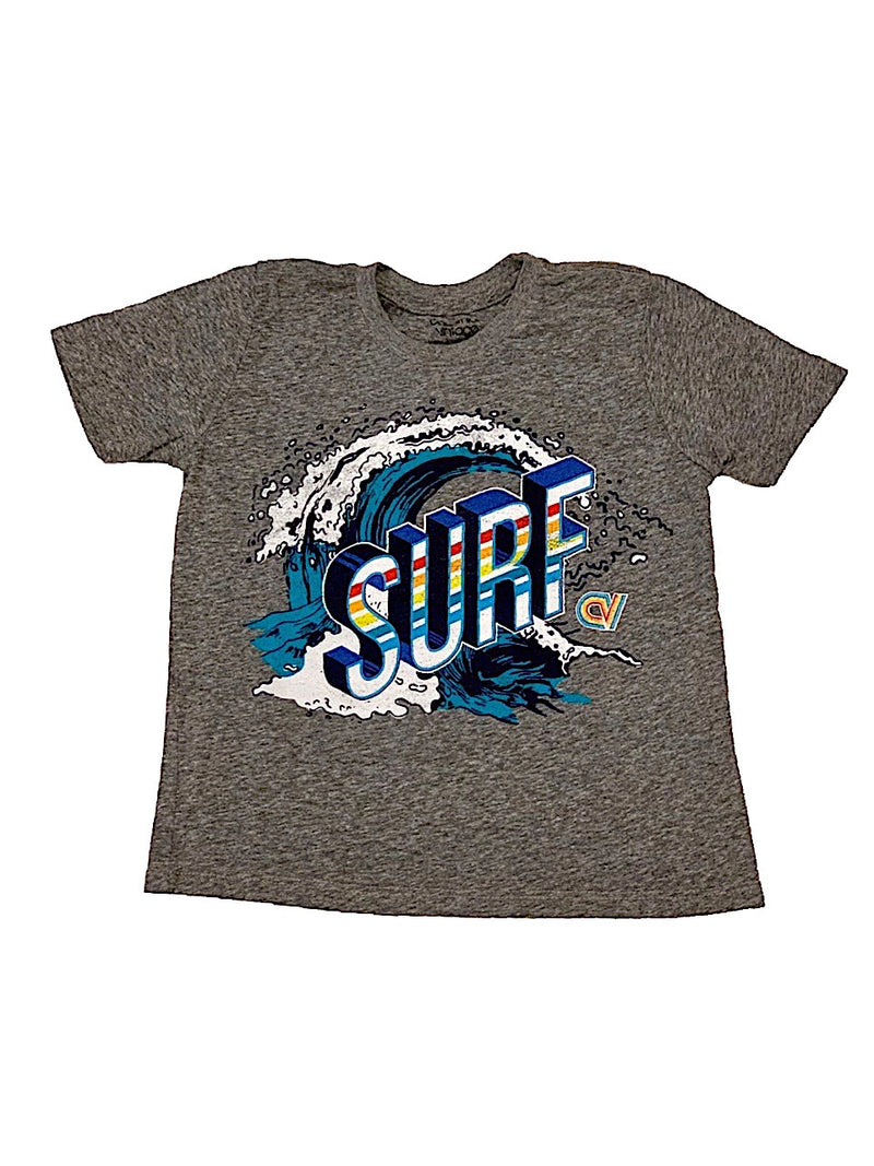 Californian Vintage Heather Grey Surf Tee Shirt
