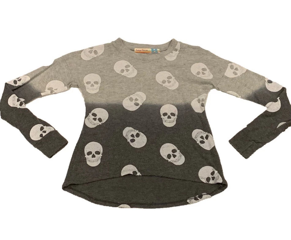 Vintage Havana Grey Skull Top