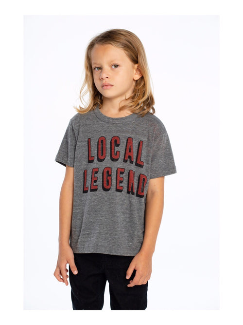 Chaser Boys Grey Local Legend Tee Shirt