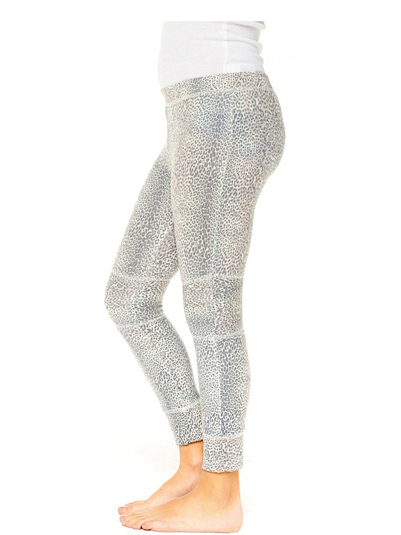 Chaser Girls Leopard Moto Leggings