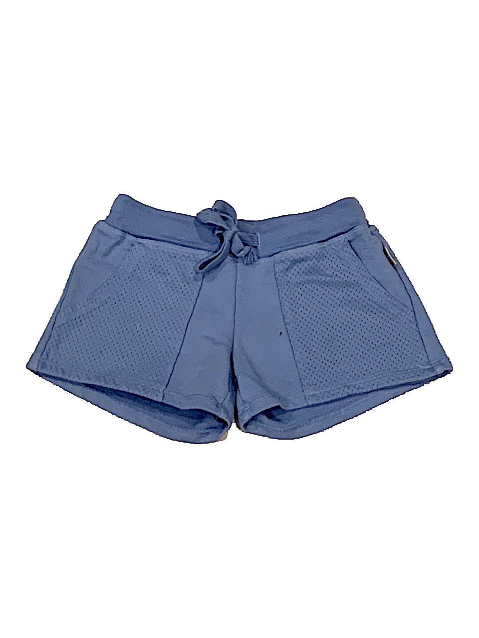 T2Love Blue Mesh Contrast Pocket Shorts