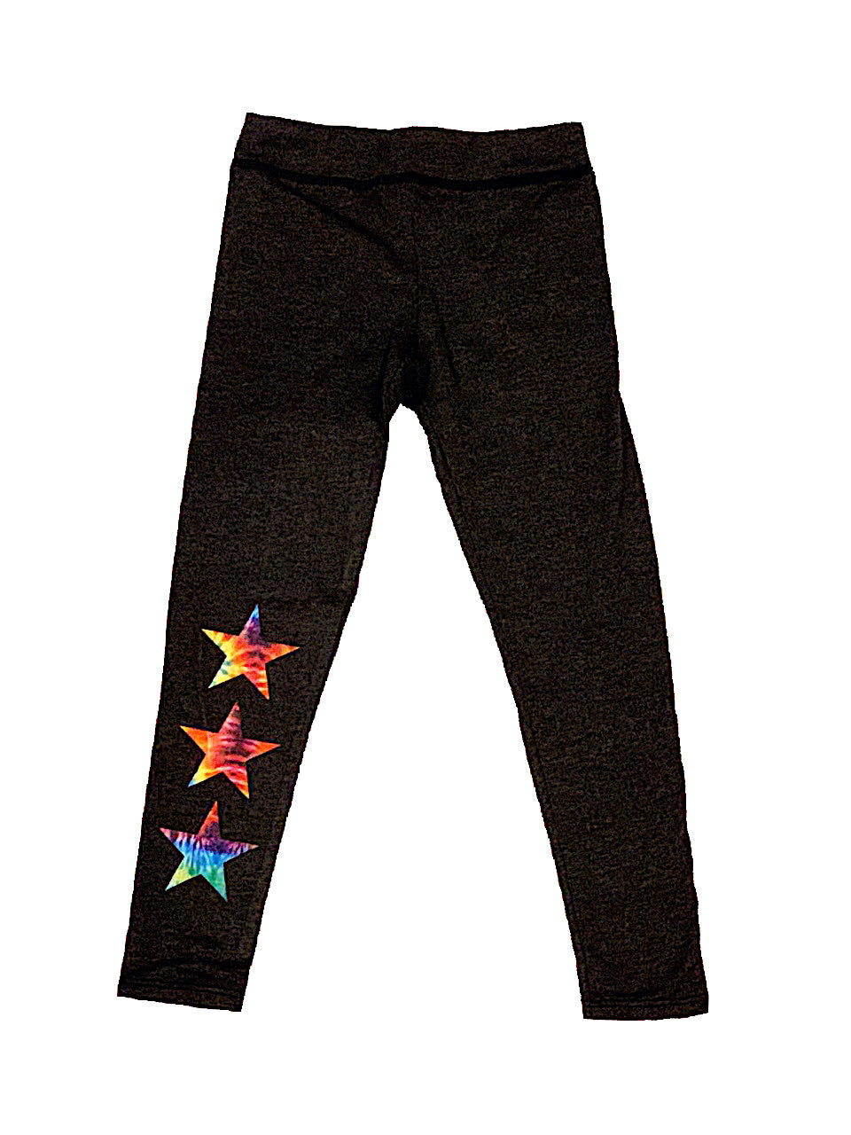 TIE DYE STAR CHARCOAL GREY LEGGING