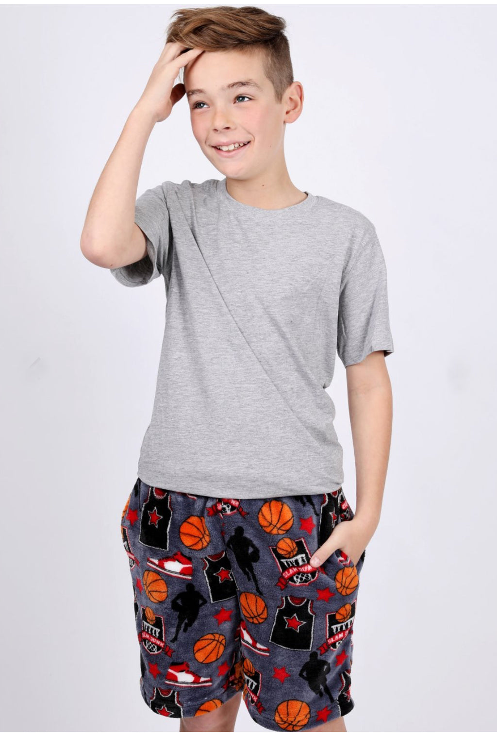 Boys Soft Fleece Basketball Shorts
