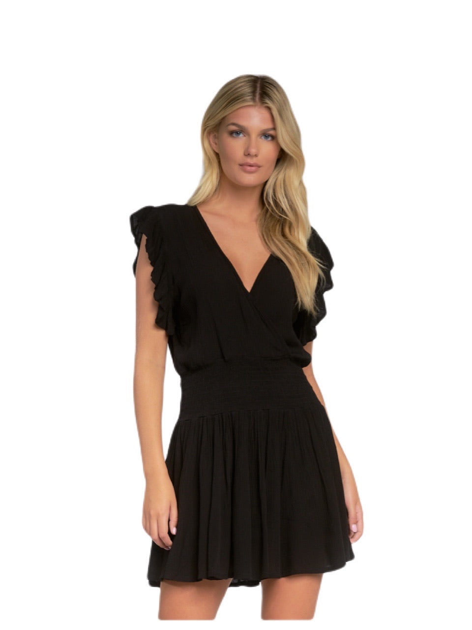 Elan Smocked Waist Dress Coverup