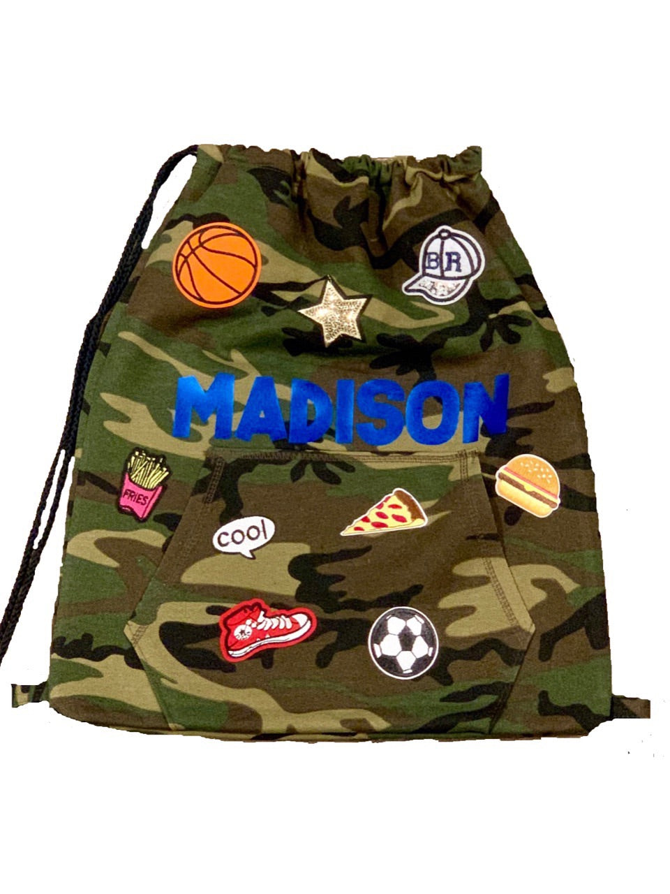 Personalized PATCH SLING BAG BACKPACK in Camo