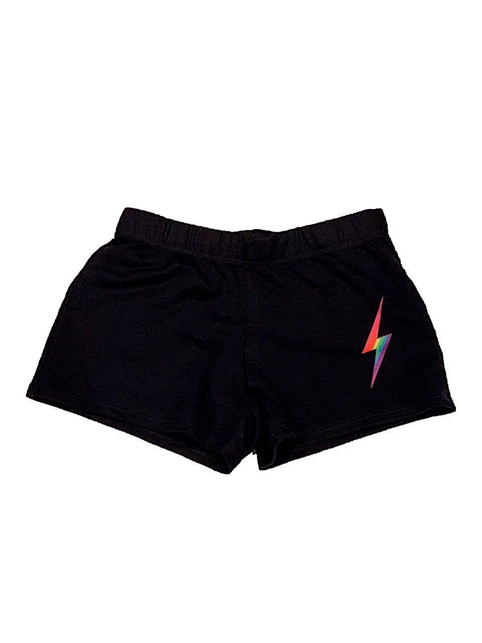 Firehouse Black Shorts With Neon Bolt