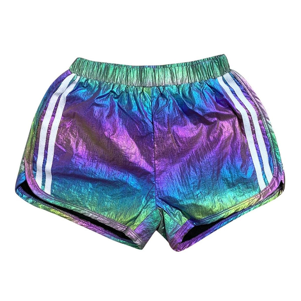 Lola and The Boys Racer Metallic Track Shorts