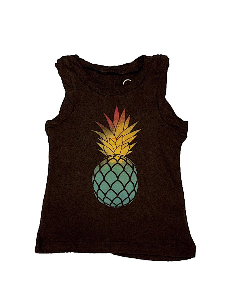 CHASER GIRLS WATERCOLOR PINEAPPLE MUSCLE TANK