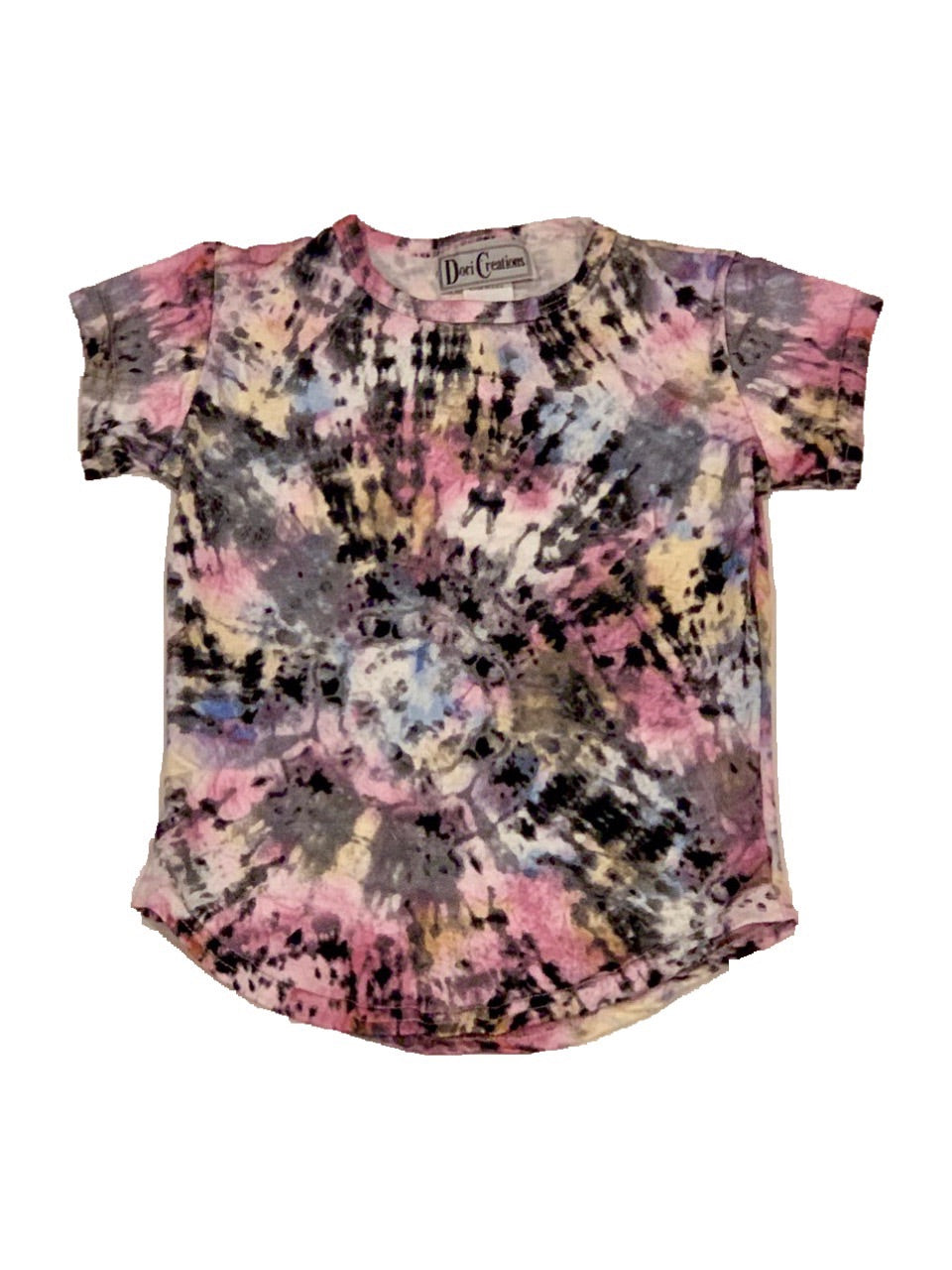 Dori Pink/Black Tie Dye Short Sleeve Top