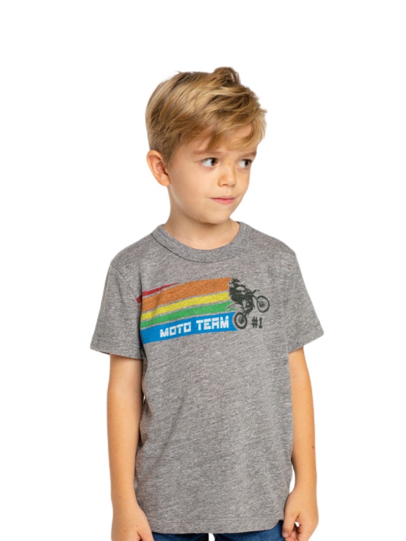 Chaser Boys Grey Short Sleeve Bike